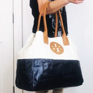 NWOT Tory Burch Extra Large Dipped Tote Carryall